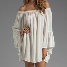 Buy online American Style Women Off Shoulder Dress - FREE SHIPPING worldwide