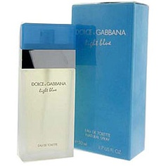 @Overstock - Dolce & Gabbana created 'Light Blue' in 2001. This scent features notes of Granny Smith Apple, Sicilian cedar, bluebells, jasmine, white rose, bamboo, cedarwood, amber and musk.http://www.overstock.com/Health-Beauty/Dolce-Gabbana-Light-Blue-1.7-ounce-Womens-Eau-de-Toilette/5131642/product.html?CID=214117 $57.26