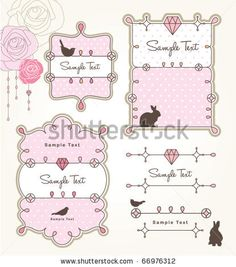 Cute Labels Ilustración vectorial en stock 90178324 : Shutterstock