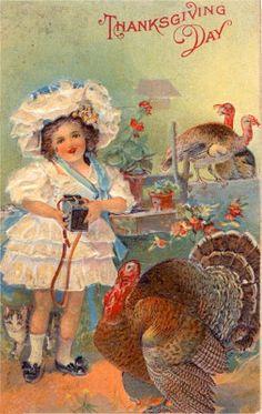 postcard.quenalbertini: Vintage Thanksgiving | Over the Rainebeau