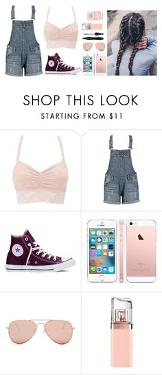 """Heaven help a fool who falls in love"" by clairebear89 ❤ liked on Polyvore featuring Charlotte Russe, Converse, Betsey Johnson, Lancôme, HUGO and Nails Inc."