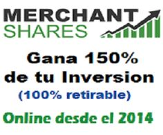Ganancia total HASTA 150% GARANTIZADO. Retiro INSTANTANEO. Online DESDE 2014  http://marketing-content.net/merchantshares/landing/es  #NegociosOnline #forex #GanarDinero