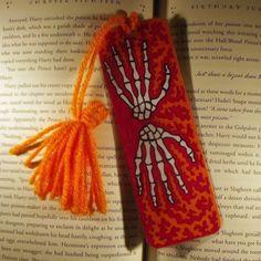 Skeleton Hand Bookmark, Anatomical Bookmark, Medical Bookmark, Halloween Gifts, Treat Bag Stuffer, Stocking Stuffer, Free Shipping