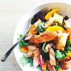 Smoked paprika salmon & pumpkin salad