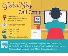 GlobalSky is one of the major outsourcing destination in the Philippines. They valued their clients that why their company is well known as #1 Best Value Call Center Company in the Philippines. GlobalSky Call Center is strict in screened and choosing the best customer representatives to give you quality and highly customer service. Contact them now and Speak with their Consultant Today by clicking the image above.  #BestCallCenterInThePhilippines #GlobalSkyCallCenter… Call Support, Party Service, Customer Service, Philippines, Sky, Good Things, Website, Business, Image