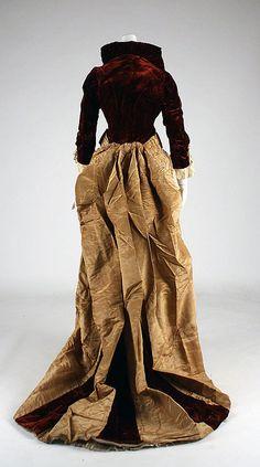 Dress  Madame Dellac (American)  Date: ca. 1878 Culture: American Medium: silk