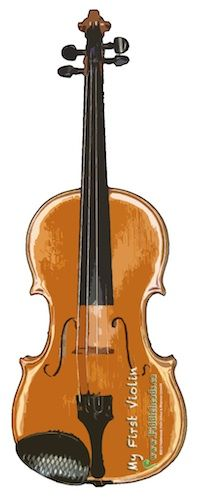Easy and cheap violin-prep. Just paste this cutout on five to seven layers of corregated cardboard. Can use this to show her how to hold the violin properly: wrist straight for left-hand, proper bowing technique for the right hand.
