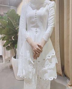 Baby Blue Wedding Dresses, Malay Wedding Dress, Kebaya Wedding, Baby Blue Weddings, Muslimah Wedding Dress, Hijab Style Dress, Modest Fashion Hijab, Muslim Wedding Dresses, Wedding Hijab