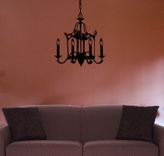 #autocollants #decalques #wallstickers #decals Chandelier lanterne / Lantern Chandelier.  $26.95