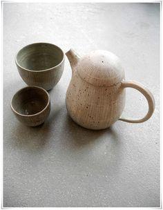 Hand thrown teapots