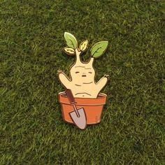 Mandrake Enamel Pin by AMOSplush on Etsy