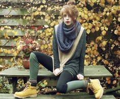 Sweater, Scarf, Two In One Leggings, Comfy Shoes | Nowistyle! (by Nadia Esra) | LOOKBOOK.nu