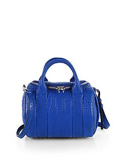 Obsessed with the texture and color of this Alexander Wang Rockie Satchel!!!