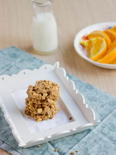 Sweet Basil: Breakfast Cookie with Apples, Whole Grains, Peanut Butter (NO banana--YAY)