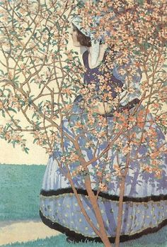 oil painting, graphics, poster art, art nouveau The Hungarian artist and illustrator Geza Farago worked in Budapest as a cartoonist, theat. Art And Illustration, Illustrations, Woman Painting, Figure Painting, Painting & Drawing, Art Nouveau, Photo D Art, Inspiration Art, Museum Of Fine Arts
