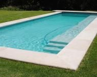 Custom Castings - Pool coping with bullnose.