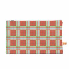 """afe images """"Summer Plaid Pattern"""" Coral Pattern Everything Bag from KESS InHouse"""