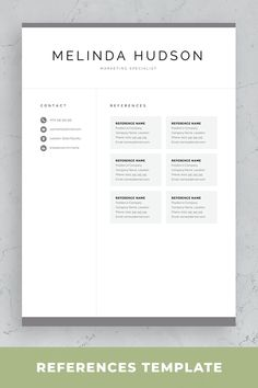 Resume Design is not just for job seekers. A professionally written resume is vital in today's competitive marketplace, and those of you that have procrastinated in … Creative Cv Template, One Page Resume Template, Modern Resume Template, Resume References, Professional References, Professional Resume, Cover Letter For Resume, Cover Letter Template, Microsoft Word 2007