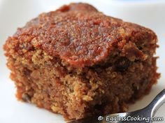 Apple Cake (can be made vegan)!  I must try this!!