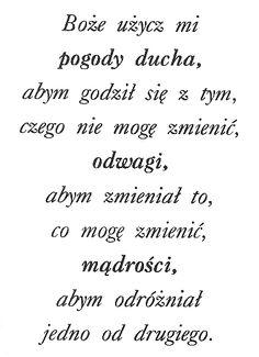 Serenity prayer in Polish