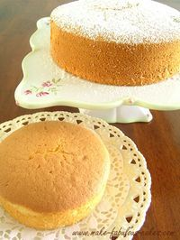 chiffon cake recipe-I have an awesome pumpkin chiffon and strawberry chiffon pie. I bet this cake is light and not too sweet like the pies. Delicious Cake Recipes, Yummy Cakes, Sweet Recipes, Dessert Recipes, Delicious Food, Bolo Chiffon, Lemon Chiffon Cake, Fluffy Chiffon Cake Recipe, Chiffon Recipe