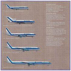 Eastern Air Lines Fleet: 1960s by 727Whisperjet, via Flickr