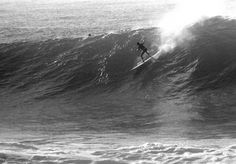 """Greg Noll, Waimea Bay, 1962 - American pioneer of big wave surfing and is also acknowledged as a prominent longboard shaper. Noll was a member of a US lifeguard team that introduced malibu boards to Australia around the time of the Melbourne Olympic Games. Noll also produced a """"legendary"""" series of 5 Search for Surf movies."""