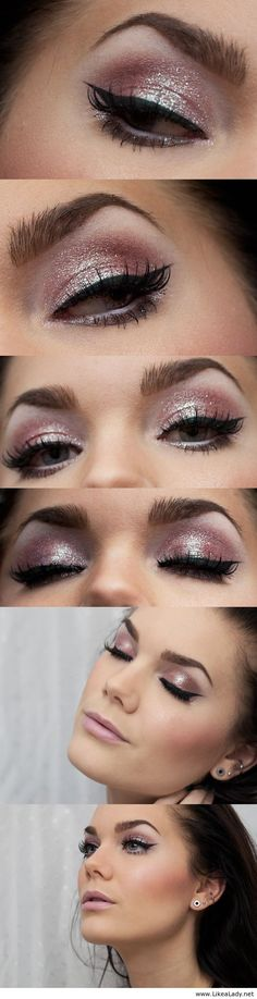 I actually do this a lot with my eyes but the shades of pink are very pretty on this one.