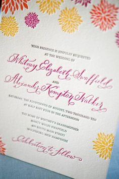 Letterpress Calligraphy Wedding Whitney + A.s Colorful Letterpress Wedding Invitations Summer Calligraphy, Beautiful Calligraphy, Wedding Calligraphy, Letterpress Wedding Invitations, Wedding Stationary, Floral Invitation, Invitation Ideas, Invite, Wedding Inspiration