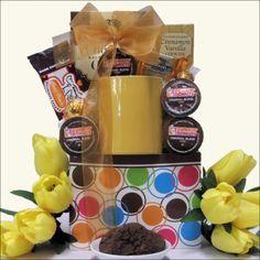 Gourmet Coffee K-Cup Gift Basket, Gourmet & Artisan Foods :: Gift Boxes & Baskets :: Bullszi.com