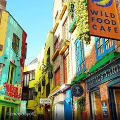 The most colorful spot in London - Neal's Yard, Covent Garden. #fodorsonthego