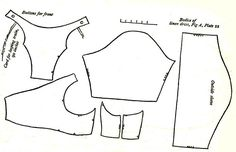 Pattern for bodice of a linen dress, 1795-1808. See site for dress image.