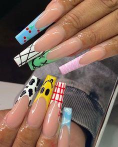 Classy Acrylic Nails, Long Square Acrylic Nails, Bling Acrylic Nails, Acrylic Nails Coffin Short, Edgy Nails, Best Acrylic Nails, Stylish Nails, Swag Nails, Coffin Nails