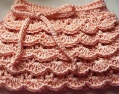 Baby Ruffle Skirt - Girls Frilly Skirt - 0-6 months - Pink Crochet Skirt