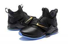 e36999eef5797 Nike LeBron Soldier 12 Black/Metallic Gold Men's Basketball Shoes