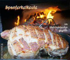 Osteressen: Spanferkelkeule im Pizzaofen gegrillt mit knuspriger Kruste Partys, Special Recipes, Pork, Meals, Credenzas, Crickets, Kale Stir Fry, Meal, Pork Chops