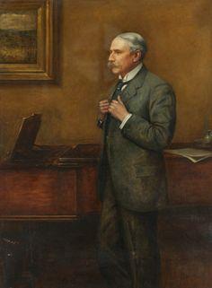 Sir Edward Elgar (1857-1934), painting (1913), by Sir Philip Burne-Jones (1861-1926).