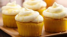 Lemon Shandy Cupcakes Like a beer and lemonade shandy? You'll love this light and refreshing shandy cupcake.<br> Like a beer and lemonade shandy? You'll love this light and refreshing shandy cupcake. Cupcake Flavors, Cupcake Recipes, Dessert Recipes, Dessert Ideas, Cake Ideas, Lemon Cake Mixes, Yellow Cake Mixes, Summer Cupcakes, Beer Cupcakes