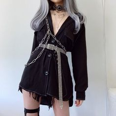 Adrette Outfits, Gothic Outfits, Stage Outfits, Cute Casual Outfits, Korean Outfits, Grunge Outfits, Fashion Outfits, Egirl Fashion, Ulzzang Fashion