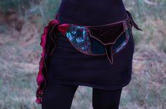 Rainbow Honeycomb - Pocket Belt - Utility belt - Festival belt - Hip bag - Bohemian - Burlesque - Burning man - Renaissance - Fanny pack