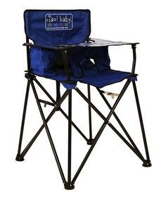 Folding Travel High Chair - perfect for taking along on camping trips or picnics.