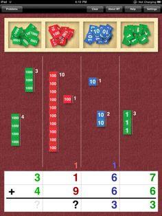 stamp game -- montessori math
