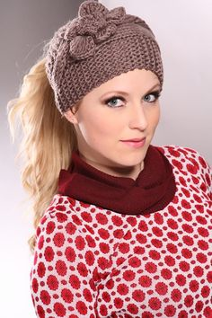 Cold weather cant keep you indoors, so cute, cozy accessories, such as this beanie-inspired, knit winter hat, are a wardrobe must! Todays lunch date with your gal pals, calls for the cable-knitting warmth of this beanie! Its darling large floral decor and cut out top, leave plenty of space for fabulous. You wont have to worry about ruining your cute hair style for the sake of being warm, because the top cut out of this adorable beanie allows for you to still rock your teased pony tail, or…