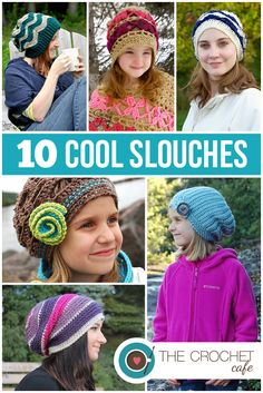 Must make some of these Cool Crochet Slouch Hat Patterns