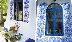 Com pinturas decorativas belíssimas, vovó de 90 anos transforma casas de sua aldeia anezka kasparkova 5