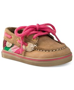 Baby's first boat shoes! These darling Sperry Topsider prewalkers are hand sewn for an extra-special touch. | Flexible rubber outsole | Full grain leather upper | Hand-sewn moccasin construction  | Ru