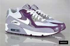 Nike WMNS Air Max 90 鈥?White / Provence Purple