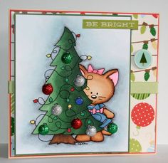Adorable handmade Christmas card by rbowen on Etsy