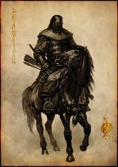 Mongol Knight, concept drawing