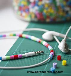 Como decorar tus audífonos con cuentas perler beads - Taringa!